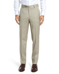 Berle Stretch Solid Wool Trousers