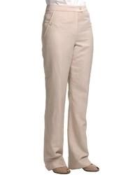 Louben Thin Pinstripe Pants Tab Front