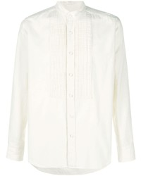 Tagliatore Long Sleeve Pleated Bib Shirt