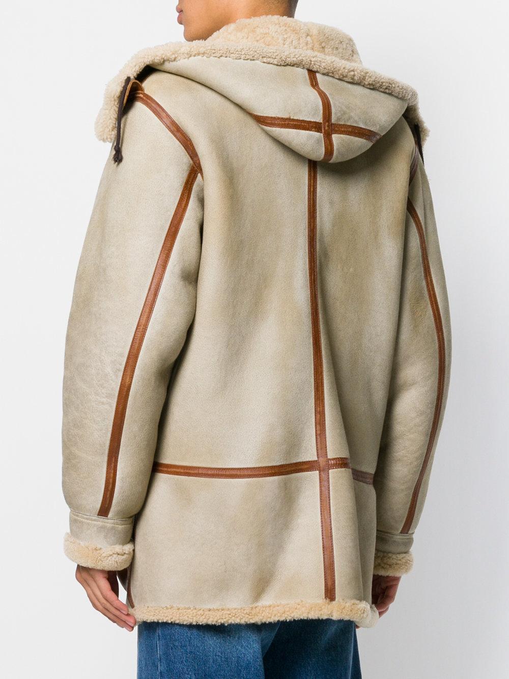 Vintage Shearling Duffle Coat