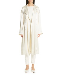 Mansur Gavriel Silk Satin Trench Coat