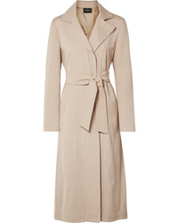 Akris Teri Belted Cotton And Silk Blend Coat