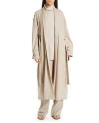 Vince Wool Blend Wrap Coat