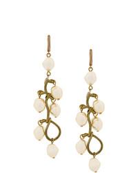 Marni Faux Pearl Pendant Earrings