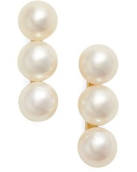 Three pearl stud earrings medium 801825
