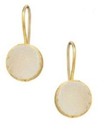 Treisi White Druzy Earrings