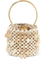 Rosantica Vega Embellished Beaded Bucket Bag