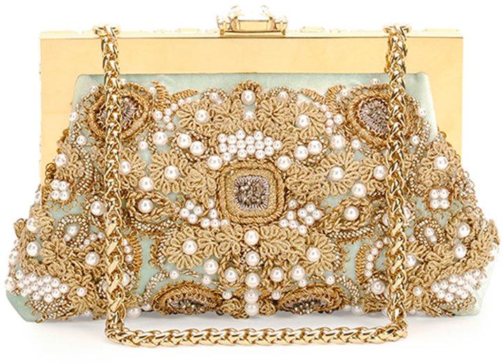 5b6dd838d2 ... Dolce   Gabbana Borsa Da Sera Raso Embellished Clutch ...