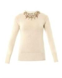 BURBERRY PRORSUM Embellished Cashmere Sweater