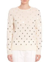 Tory Burch Embellished Merino Wool Sweater