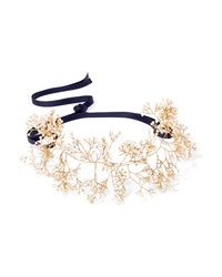 14 / Quatorze Babys Breath Gold Tone Pearl Headband