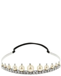 Miu Miu Faux Pearl And Crystal Embellished Headband