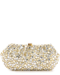 Gold and silver jeweled clutch medium 398241