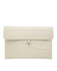 Alexander McQueen Off White Skull Envelope Clutch