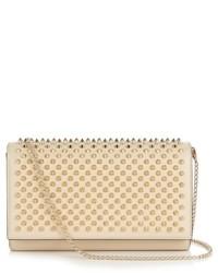 Paloma spike embellished leather clutch medium 527384