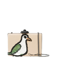 Oscar de la Renta Rogan Beaded Clutch Bag
