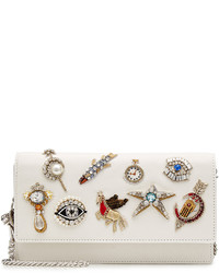 Embellished leather shoulder bag medium 924322