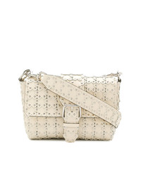 RED Valentino Red Flower Studded Shoulder Bag