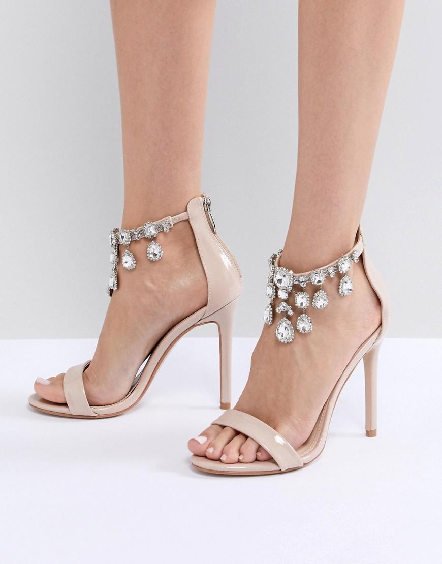 Public Desire Chai Ankle Embellished Heeled Sandals