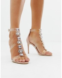 Aldo Montesegale Embellished Clear Heeled Sandals