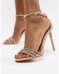 Steve Madden Sterling Jewelled Sandal Micro Suede