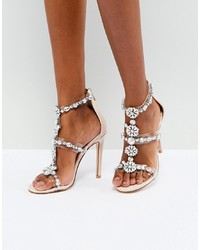 Public Desire Ziggy Embellished Heeled Sandals