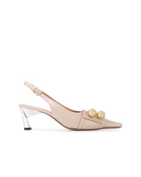Marni Button Embellished Pumps