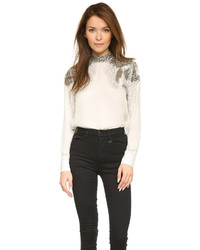 Embellished shoulder blouse medium 310584
