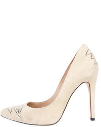 Embellished suede pumps medium 333012