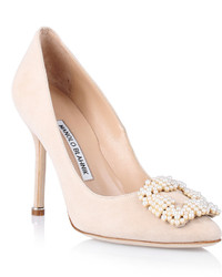 Hangisi beige suede pump medium 333013