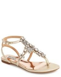 Cara crystal embellished flat sandal medium 3666474