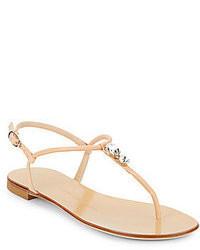 Giuseppe zanotti embellished thong leather sandals medium 61206
