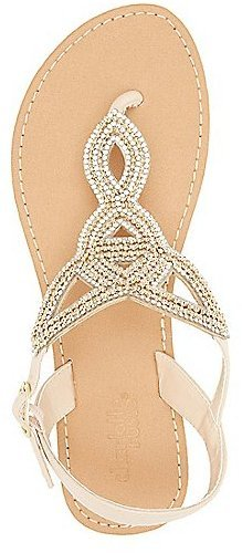 fe52aaa7aafe ... Charlotte Russe Rhinestone Embellished Looped Thong Sandals ...
