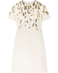 Valentino Embellished Wool And Mini Dress