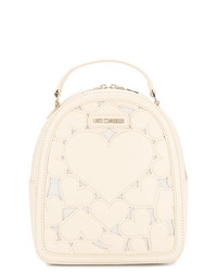 Love Moschino Heart Embroidered Backpack