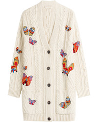 Valentino Alpaca Blend Embroidered Cardigan