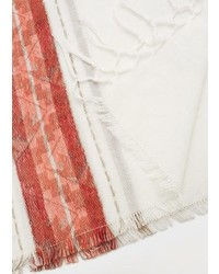 Violeta BY MANGO Embroidered Cotton Scarf
