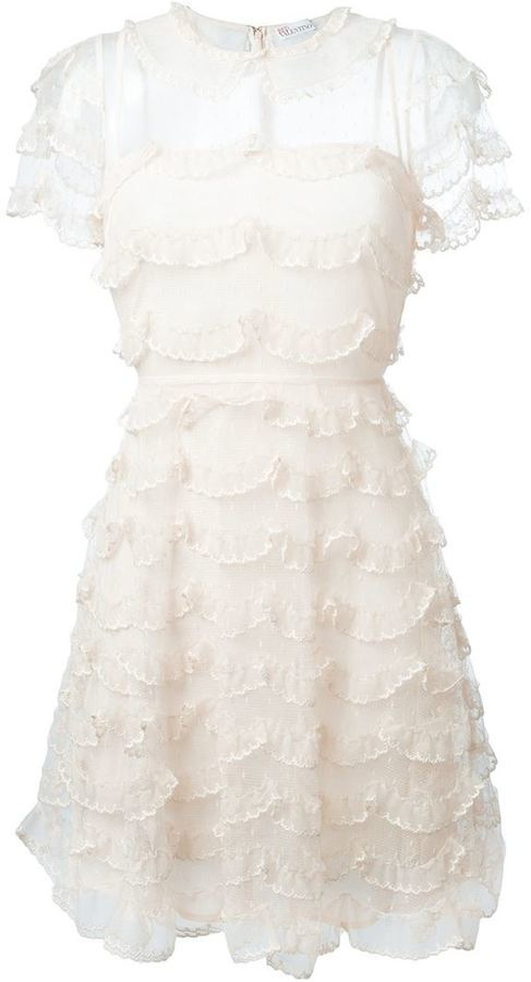 775b898146 ... RED Valentino Embroidered Tulle Ruffled Dress