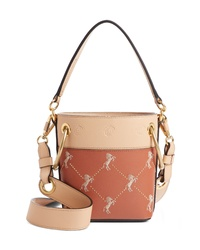 Chloé Roy Small Embroidered Leather Bucket Bag