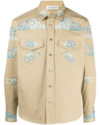 Lanvin Embroidered Cloud Shirt