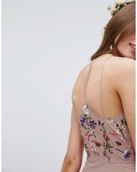 c772abbfc51d ... Asos Tall Asos Design Tall Bridesmaid Floral Embroidered Dobby Mesh  Cami Strap Maxi Dress