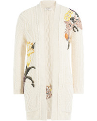 Valentino Cashmere Wool Embroidered Cardigan