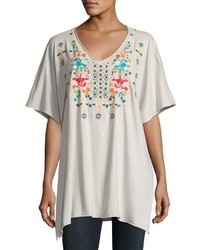 Johnny Was Jwla For Embroidered V Neck Poncho Sand