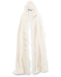 Beige Embroidered Scarf