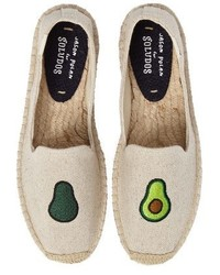 Avocado embroidered platform espadrille medium 3992120