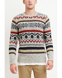 21men 21 Striped Fair Isle Sweater
