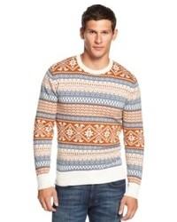 American Rag Sweater Fair Isle Crew Neck Sweater
