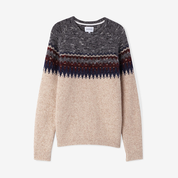 Norse Projects Birnir Fairisle Alpaca Sweater | Where to buy & how ...