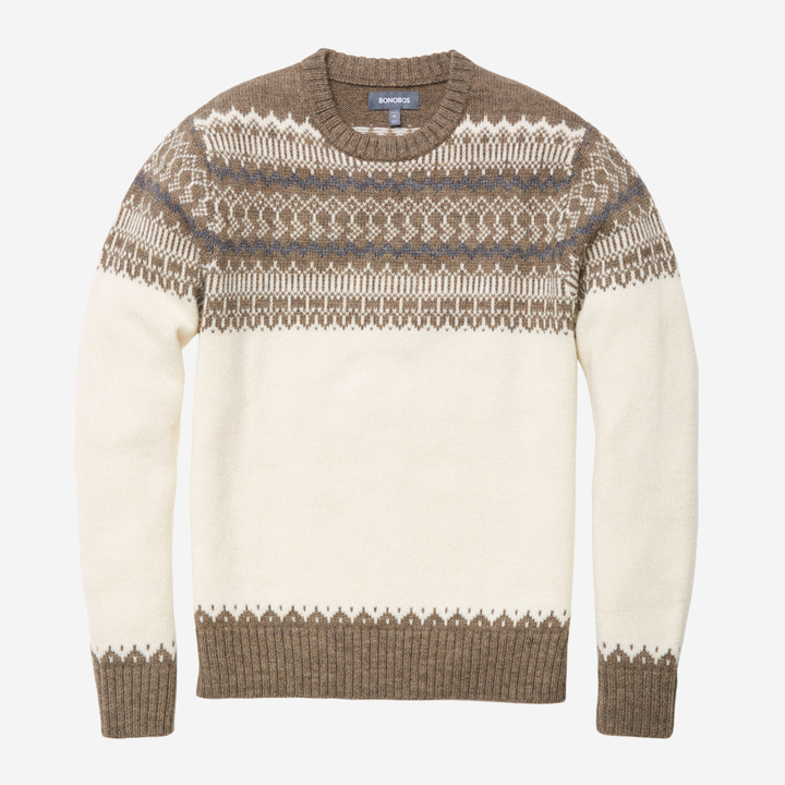 Bonobos Alpaca Blend Fairisle Crew | Where to buy & how to wear