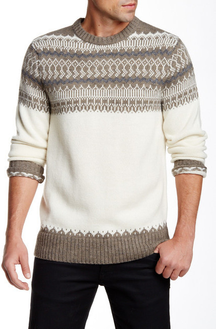 Bonobos Fair Isle Crew Neck Sweater | Where to buy & how to wear